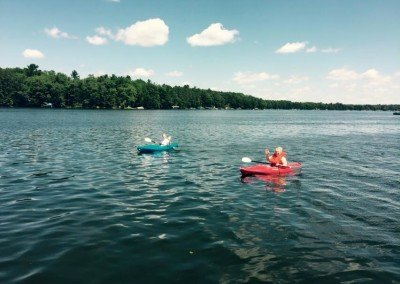 Two Kids Kayaking