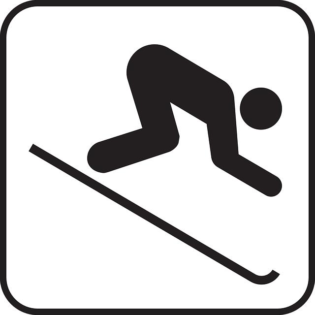 Downhill Skiing Logo